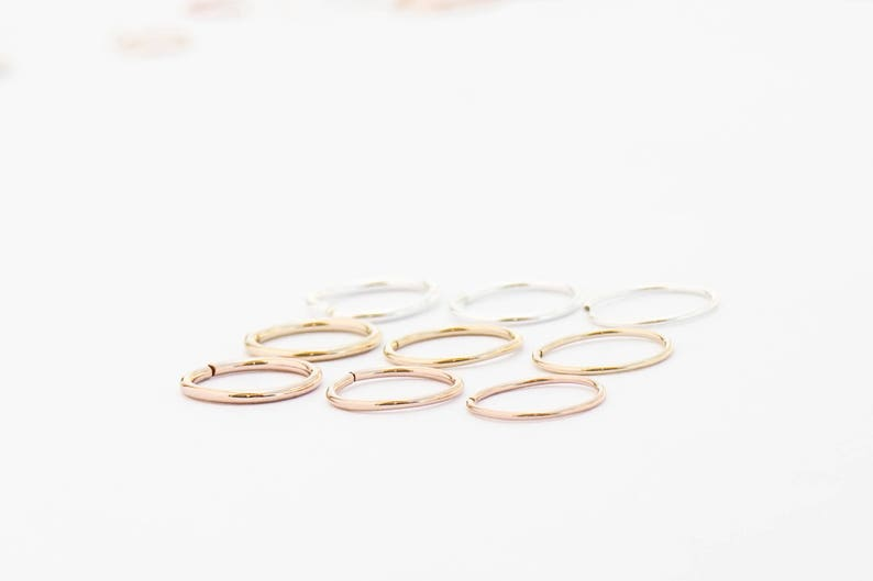 Snug Fitting Nose Ring Hoop  Tight 20g Nose Ring Hoop Gold  image 0