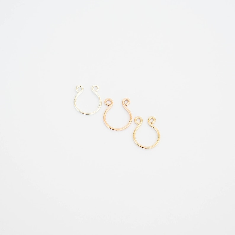 18g Clip On Bull Cow Nose Ring Faux Fake Nose Ring Septum Etsy