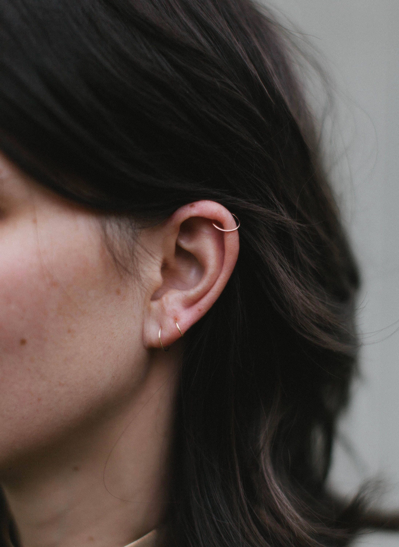 Tiny Silver Hoop Earring 18g 20g 22g Small Hoop Earrings  85191975d5ce