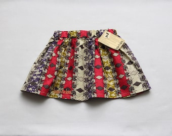 African Wax Print Skirt Girl's Size Two