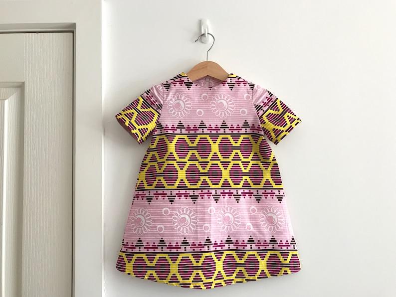 African Wax Print A Line Dress Toddler Girl/'s