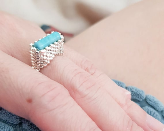 Elpis | Turquoise + Silver Ring