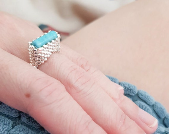 Elpis Ring | Turquoise in Silver