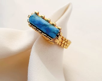 Elpis Ring | Turquoise in 24k Gold