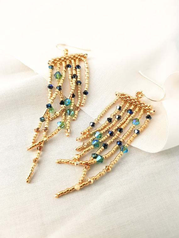 Hathor | Golden Mermaid Swarovski Tassels