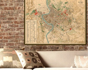 Historical Map Etsy - Historical wall maps