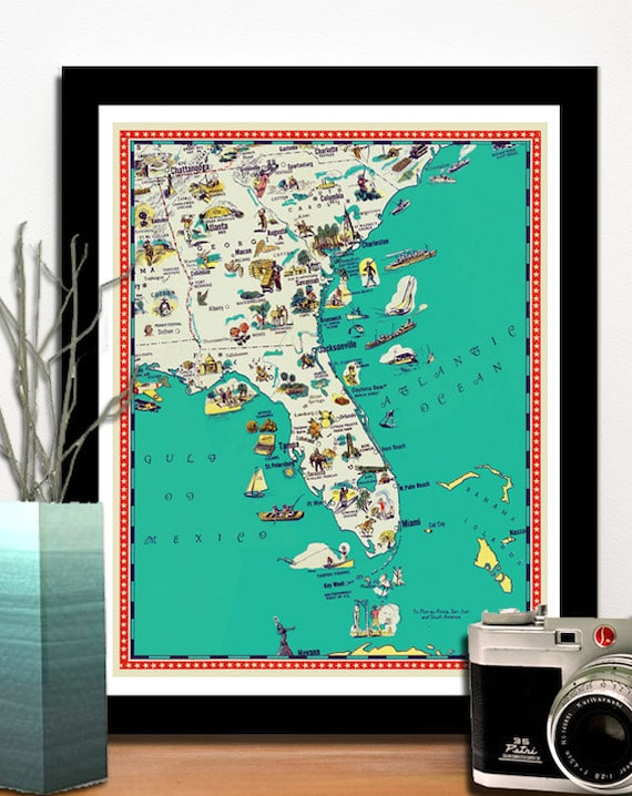 Florida map - Georgia map - South Carolina map - Illustrated map poster on wisconsin topographical map key, georgia beaches map, georgia map cities ga, georgia county map, georgia's manufacturing key, georgia colony towns, georgia colony map, georgia capital map, georgia map bodies of water, georgia pine mountain trail map, georgia state map, georgia state location,