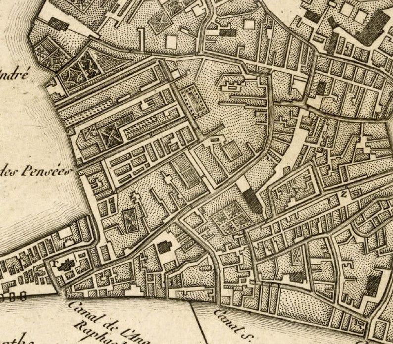 Venice map Old map of Venice City map print Fine | Etsy