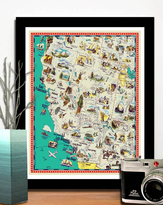 Map Of California Funny.Vintage Funny Maps Ancientshades