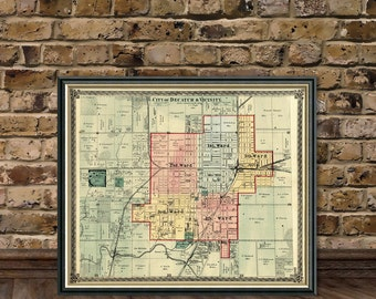 Decatur map -  Map of Decatur and vicinity - Archival  print