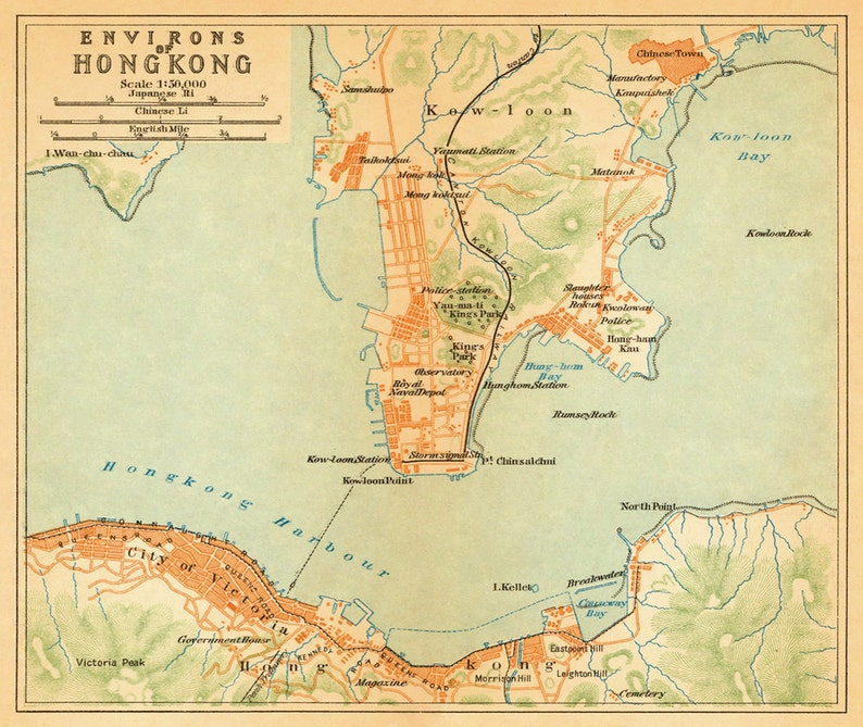 Old map of Hong Kong - Old city map print - Hong Kong fine print - King Kong Map on raiders of the lost ark map, lone survivor map, headless horseman map, national treasure map, the hunger games map, the lion king map, a princess of mars map, the ring map, saving private ryan map, robin hood map, jurassic park map, the most dangerous game map, monsters university map,