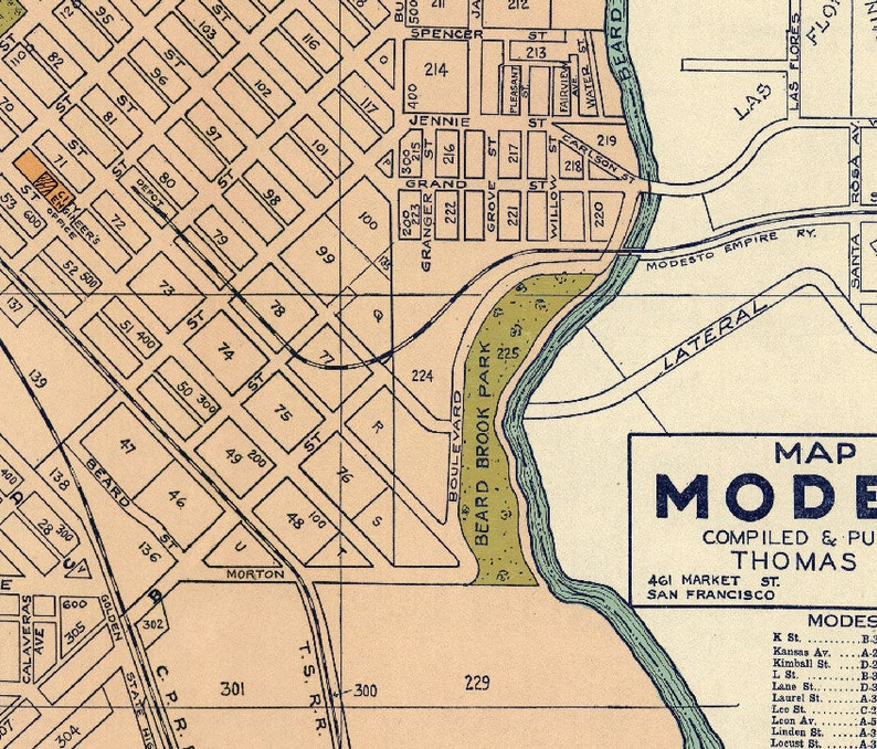 Old map of Modesto - Vintage city plan restored - Fine print on paper Kansas Map Of Modesto on map of pinole, map of twain harte, map of mcclellan, map of pt hueneme, map of don pedro, map of copperopolis, map of orosi, map of thousand palms, map of long beach city, map of altamont pass, map of turlock lake, map of la harbor, map of white city, map of carlinville, map of sf civic center, map of marin city, map of cucamonga, map of girard, map of markleeville, map of stockton,