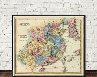 Antique map of China  - Map of China  - PRINT