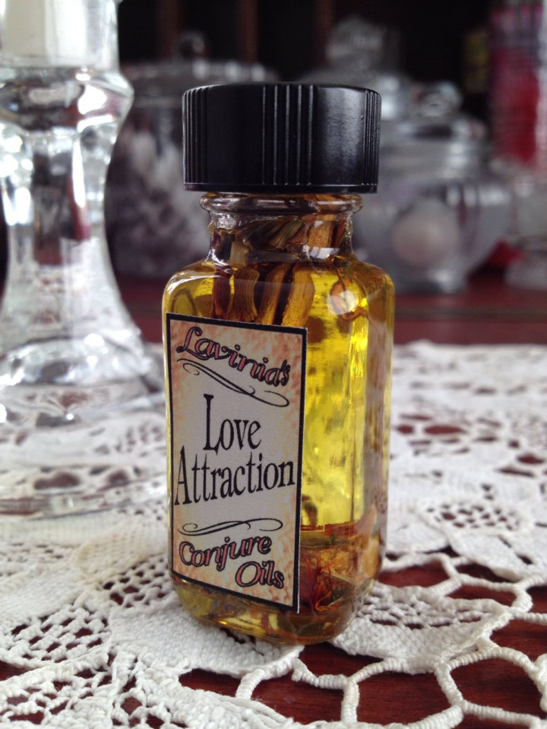 Love Attraction Oil - Love drawing - Spiritual - Hoodoo - Folk magic -  Witchcraft - Pagan - Wicca