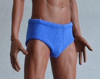 1/ 6th scale XXL royal blue men's underwear fits TBLeague Phicen M34 M35 M36 and Hot Toys TTM 20 size larger figures and male fashion dolls