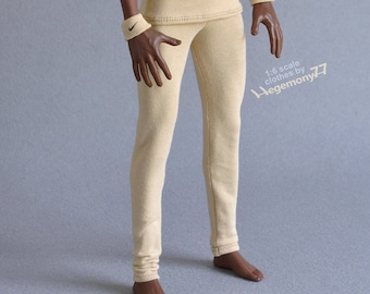 Longer 1/ 6th scale XL beige leggings fits TBLeague M36 size (basketball player) collectible poseable figures