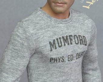 1/6th scale Mumford T-shirt / sweatshirt / sweater inspired by Beverly Hills Cop - fit ~ 12-inch figures e.g. HT TTM 19 TBLeague M31 M32 M33