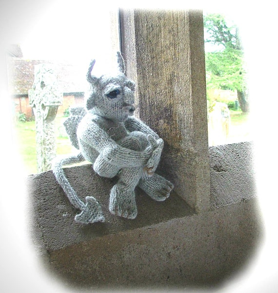 SIMON Baleful GargoyleSpielzeug-Strickmuster von Georgina | Etsy