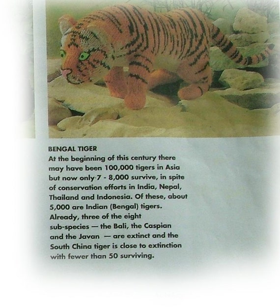 by Georgina Manvell MR BENGAL TIGER Toy Knitting Pattern