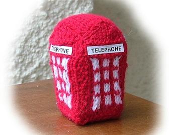 BRITISH TELEPHONE BOX  toy knitting pattern