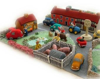 LITTLE KNITTINGTON village toy  knitting pattern by Georgina Manvell pdf download