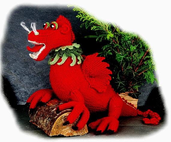 LLEWELLYN GOCH walisischen Drachen Spielzeug Stricken Muster | Etsy