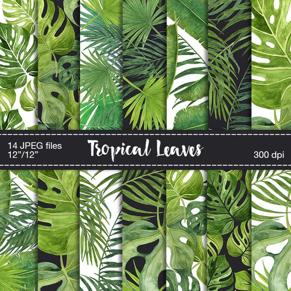 Digital Scrapbook Paper Tropical Leaves Digital Paper Etsy Download nature free stock photo tropical leaves free background. digital scrapbook paper tropical leaves digital paper tropical background digital tropical texture digital paper watercolor leaves