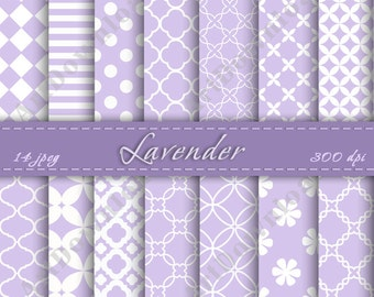 Lavender Digital Paper - Scrapbooking Paper, Digital Scrapbook Paper Pack, Digital Downloads