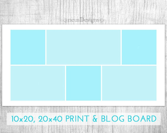 Photo collage template 10x20 20x40 storyboard for etsy image 0 maxwellsz