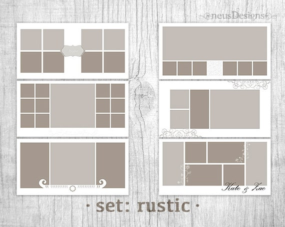 Wedding storyboard collage templates, Photo Collage Template, 10x20 ...