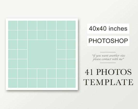 40x40 Square Photo Collage Photoshop Collage Template Photography Template Psd Template Photo Template Square Storyboard 41 Pictures