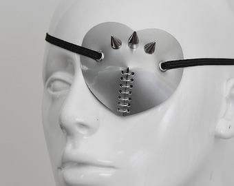 SPIKE Silver Heart Eye Patch