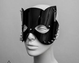 Black PVC Cat Mask