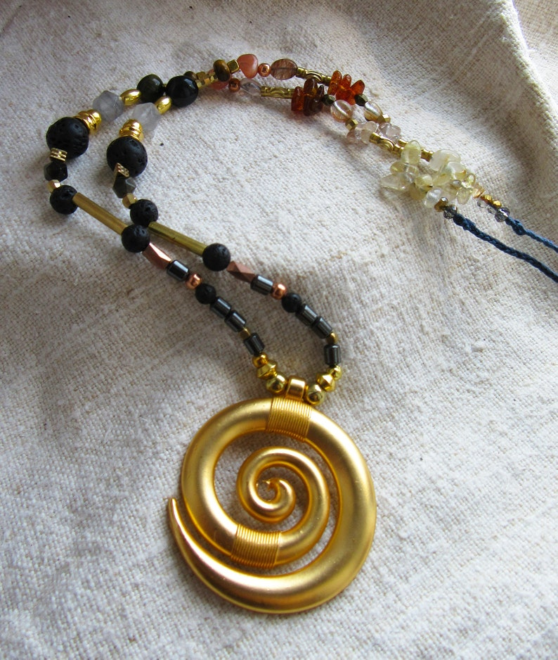 golden spiral necklace