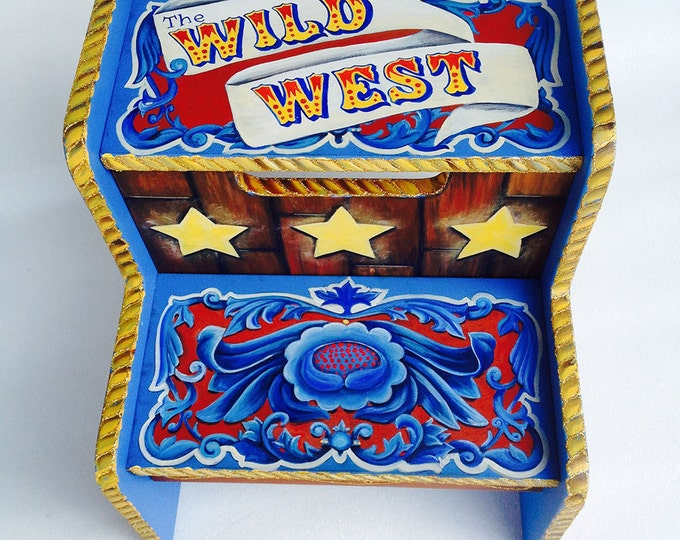 Personalized Step Stool - Wild West