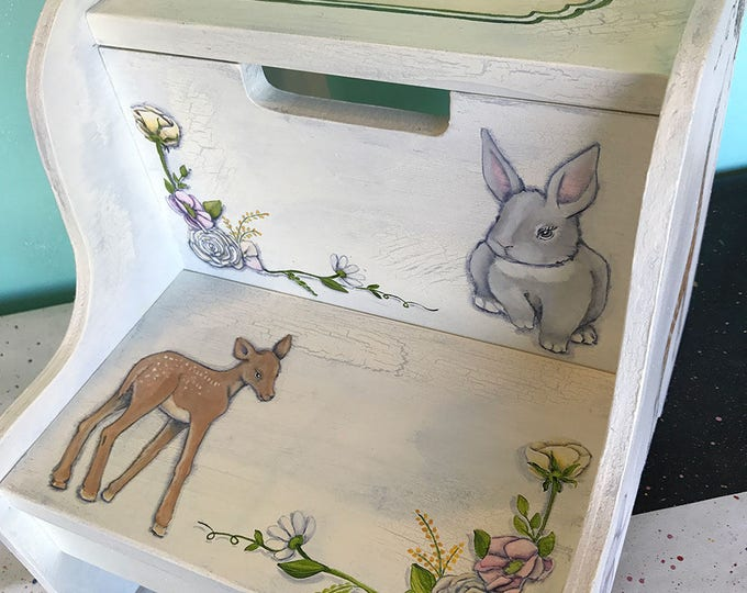 Personalized Step Stool - Baby Animals
