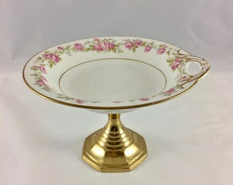 Vintage China Upcycled Pedestal Soap Jewelry Candy Dish