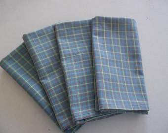 17 x 21 on made to order Cloth napkins hand made Sets of four 5 designs to pick from. Finished mitered corners