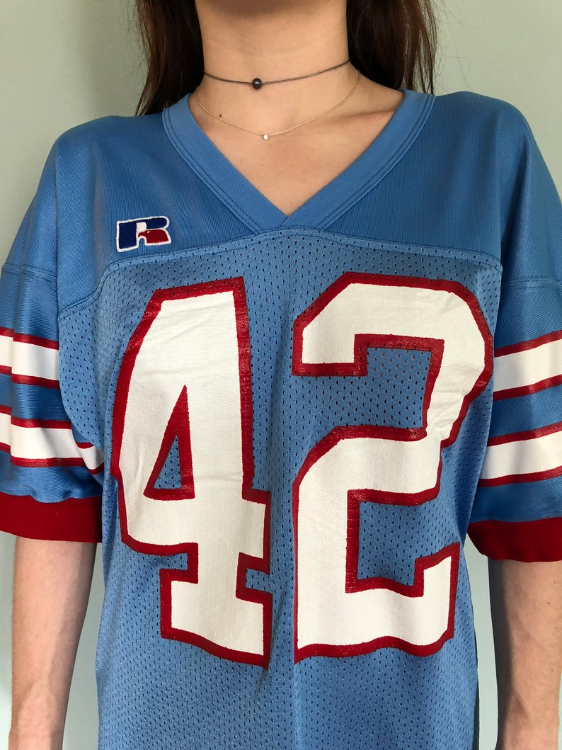 263a46c53e4 Retro Houston Oilers Jersey Dress Medium | Etsy