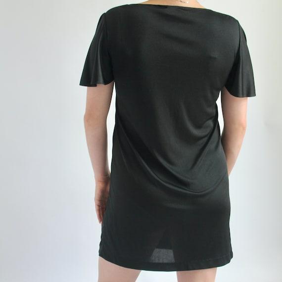 Black Mini Dress Small 1970's Sears - image 5