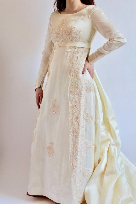 1950's Satin Bridal Gown XS