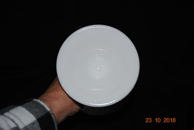 Indiana Glass Milk Glass Duette  Diamond Quilted Round Pedestal Compote Planter