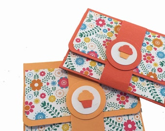 Handmade Gift Card Holders set of 2,  Choose Color Gift Card Envelope