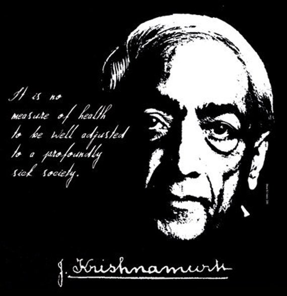 Jiddu Krishnamurti Quote T Shirt Radical Change In Mankind Etsy