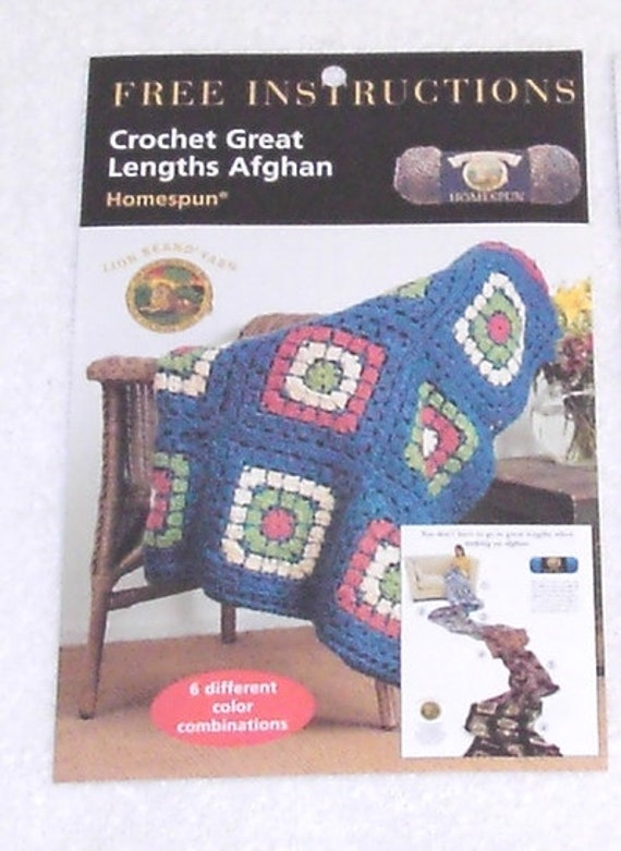 Crochet Great Lengths Afghan Pattern By Lion Brand Etsy