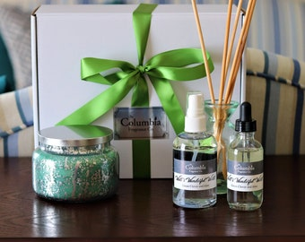 FRAGRANCE GIFT SET - Candle, diffuser oil, room spray gift box