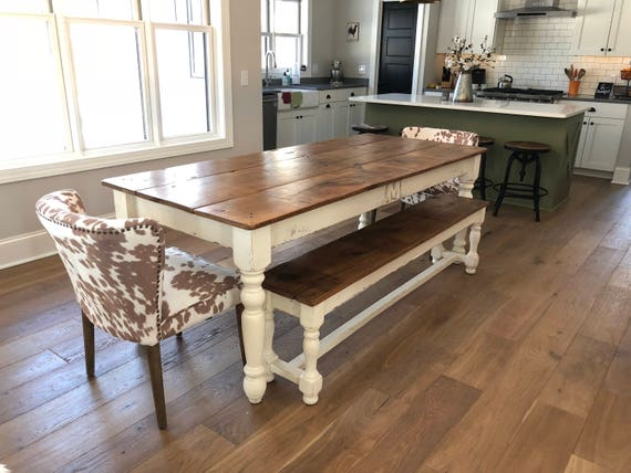 Attirant The 6 Foot Family Farm Table Handmade With Reclaimed Wood | Etsy
