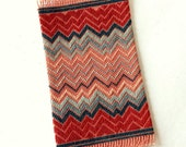 Handstitched Miniature Flame Stitch - Chevron Dollhouse Rug