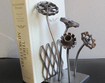 Flower Garden Welded Metal Sculpture