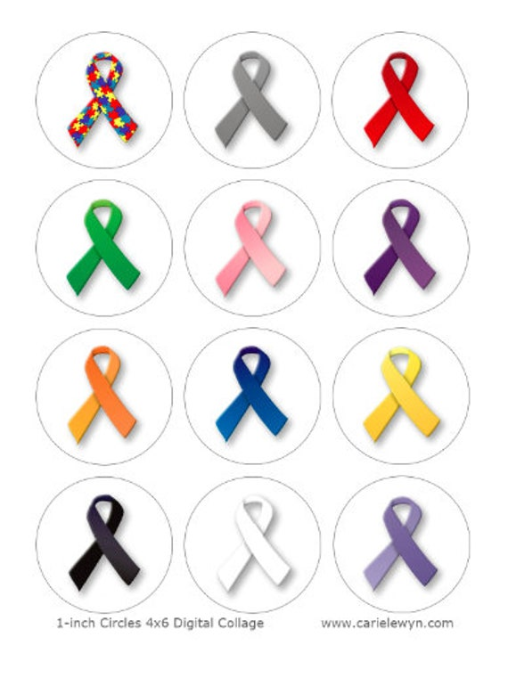 photo regarding Printable Ribbon named Know-how Ribbon Printable 1-Inch Circles / Bottlecap Photographs / Most cancers, Autism, Allows, Ribbons for the Bring about / Fast Down load